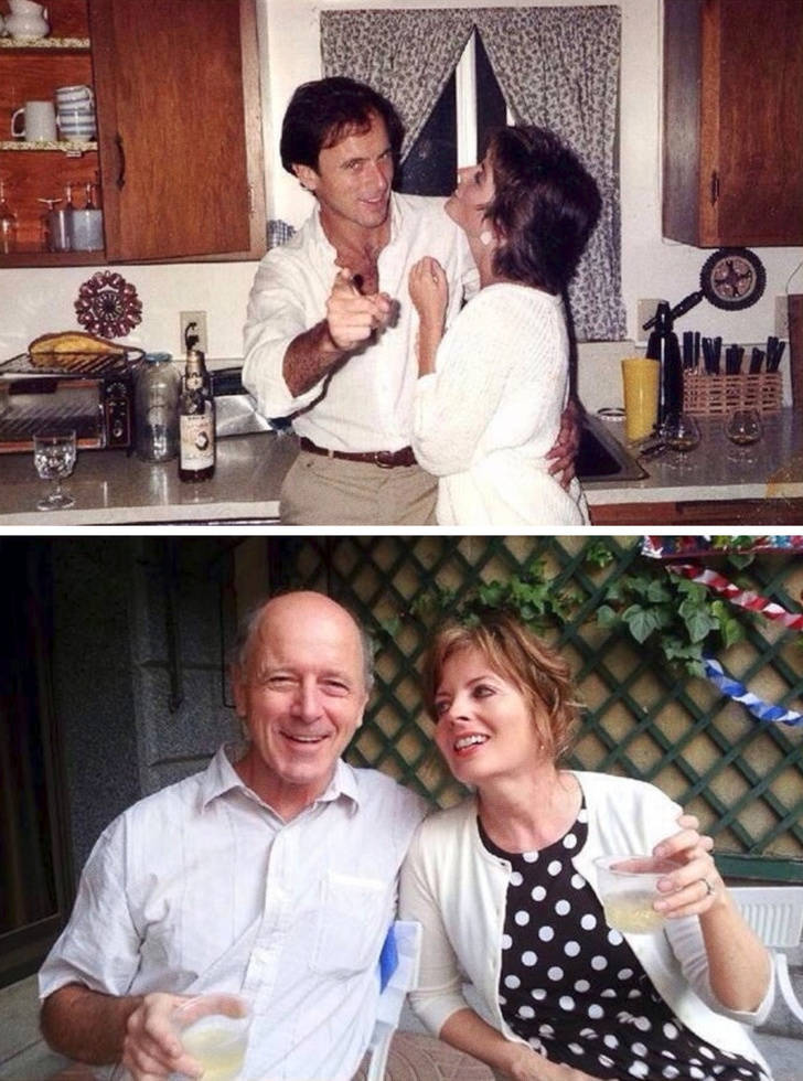 """Happy Couples Show Their """"Then And Now"""" Photos"""