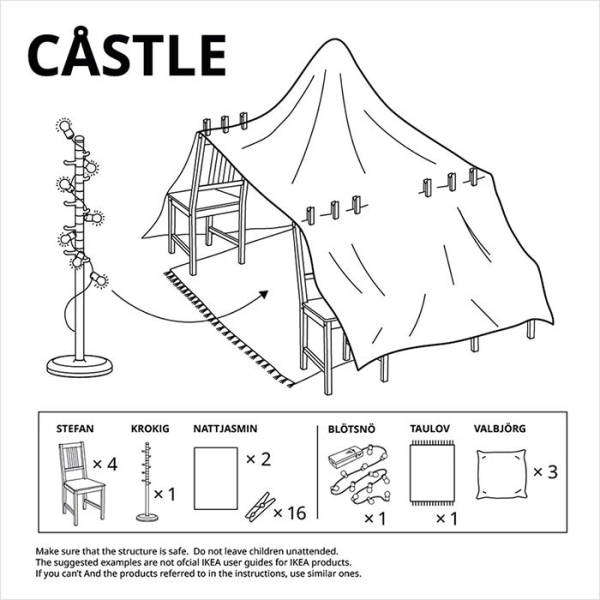 IKEA Explains How To Build Furniture Forts During Quarantine