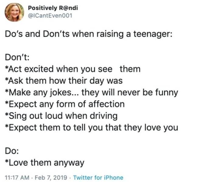 Try To Raise A Teenager…