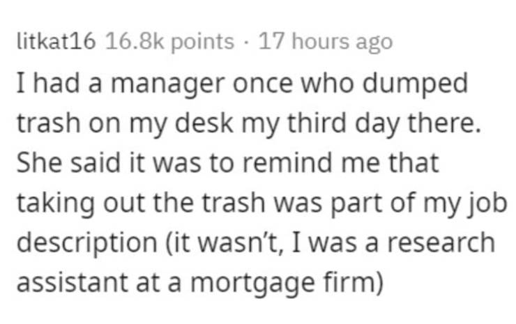 And What Was Your Worst Coworker Like?
