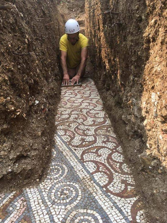 Astonishing Roman Mosaic Floor Was Recently Discovered Just Outside Verona, Italy