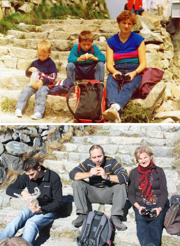 People Return To Childhood By Recreating Their Old Photos