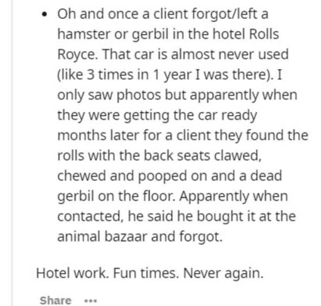 Hotel Workers Have Seen Some S##t…