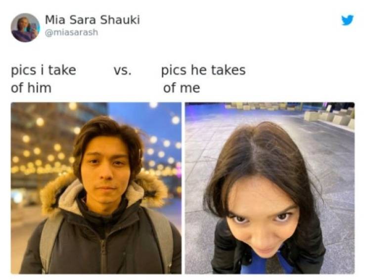 Men And Women Take Pictures Of Each Other Very Differently…