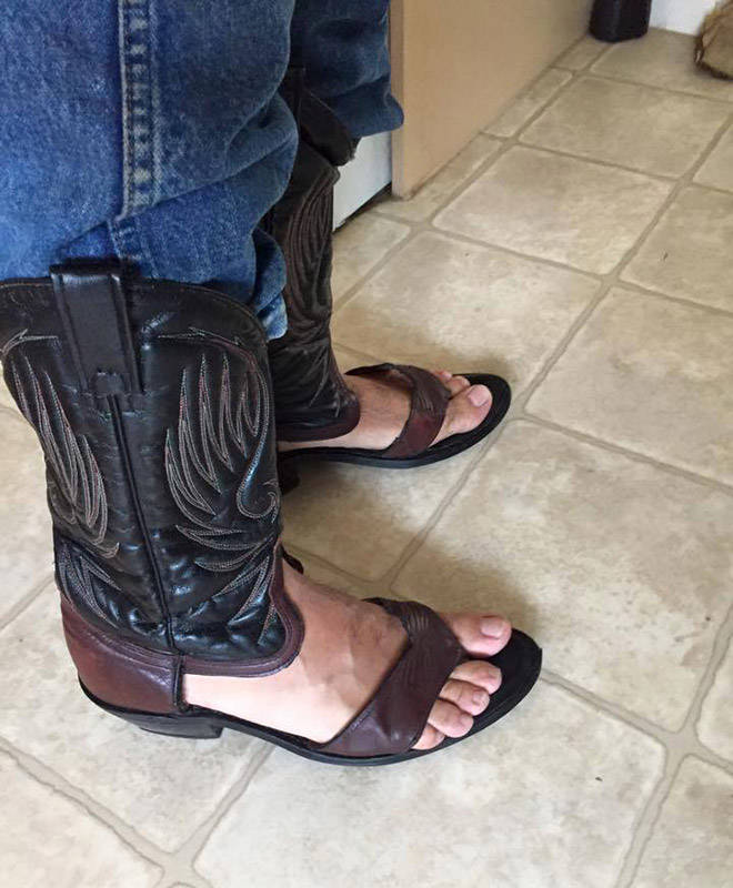 Summer Is Here, And Cowboy Boot Sandals Are As Well…