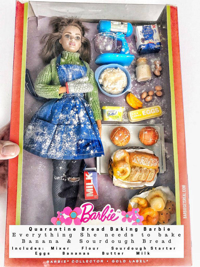 """These """"Quarantine Barbies"""" Look Unsettlingly Real"""