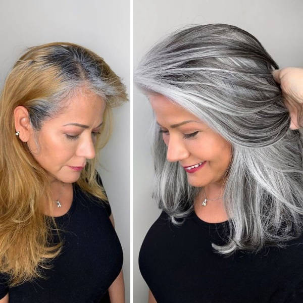 Gray Hair? No Worries, This Hairdresser Will Turn It Into Most Fashionable Thing Ever!