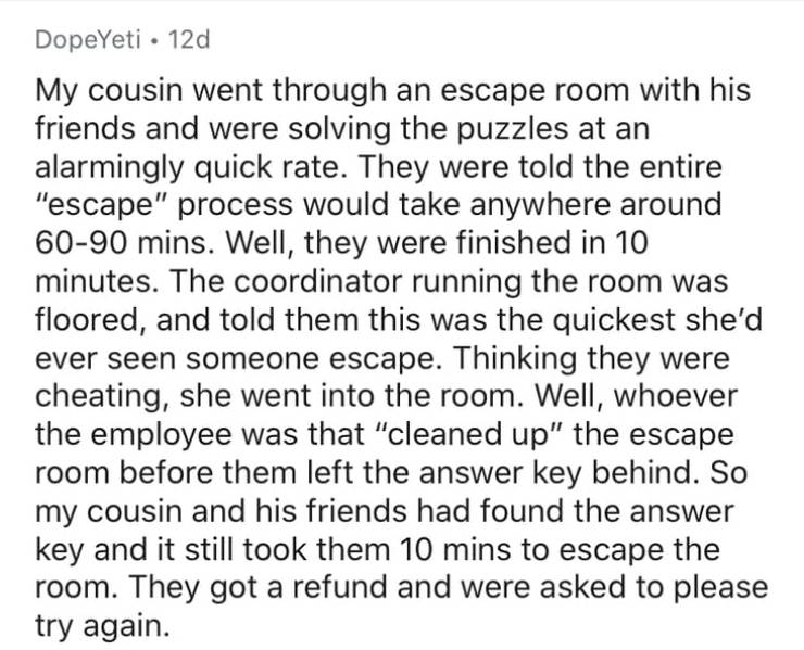 Escape Room Workers Witness Stuff They Can't Escape…