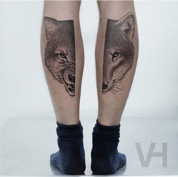 Split Tattoos That Look Like Museum-Level Art