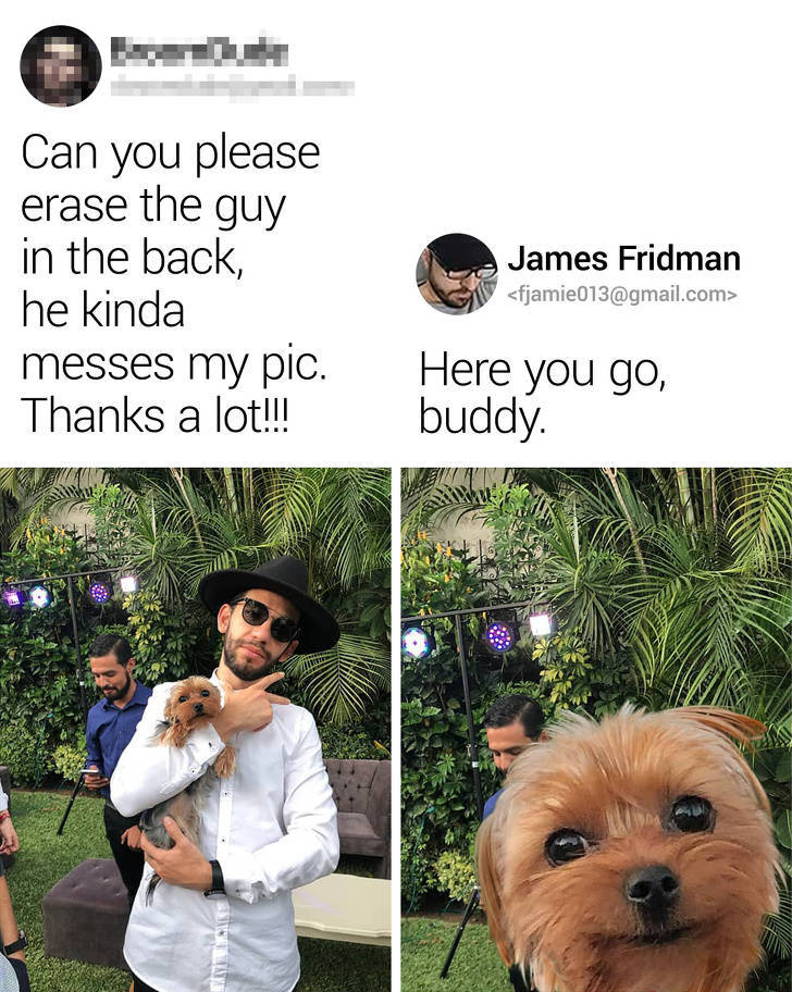 You Can't Be Mad At James Fridman's Photoshops…