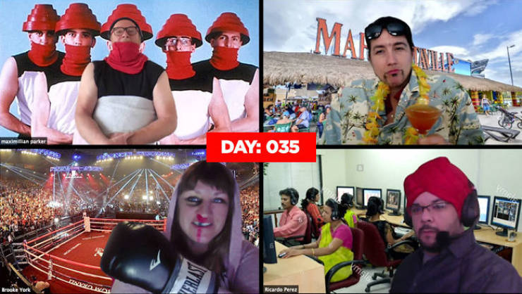 Quarantined Workers Compete For The Silliest Homemade Costume