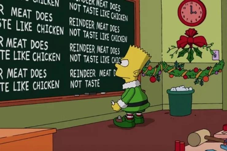 """Simpsons"" Chalkboard Is Like A Time Machine At This Point…"