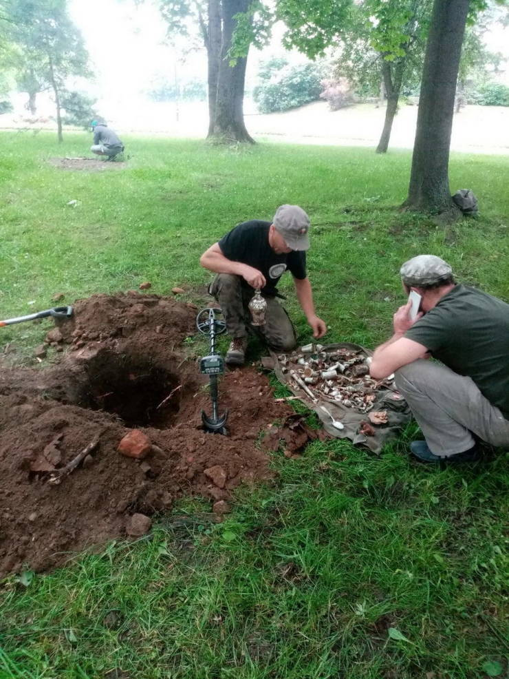 World War II Treasure With Silver Items Found Among The Ruins Of A XIV-Century Castle