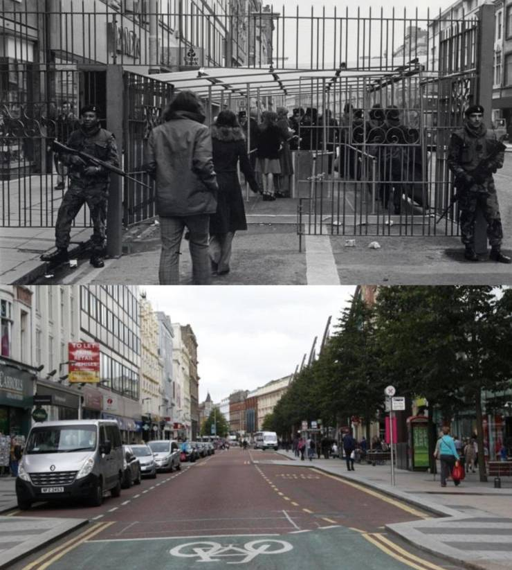 Impressive Comparisons Of Places Then Vs. Now