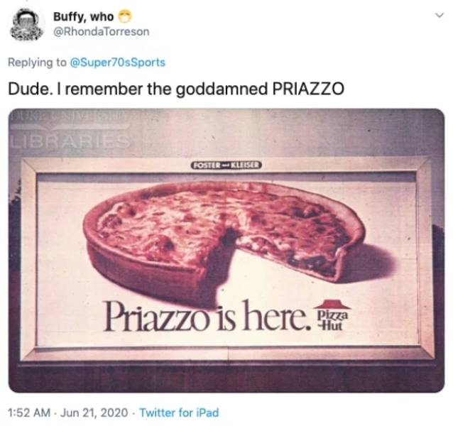 """Remember """"Pizza Hut"""" Back In The"""