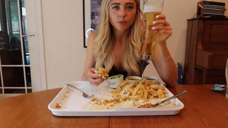 This British Girl Devours Giant Food Servings And Doesn't Get Any Fatter!