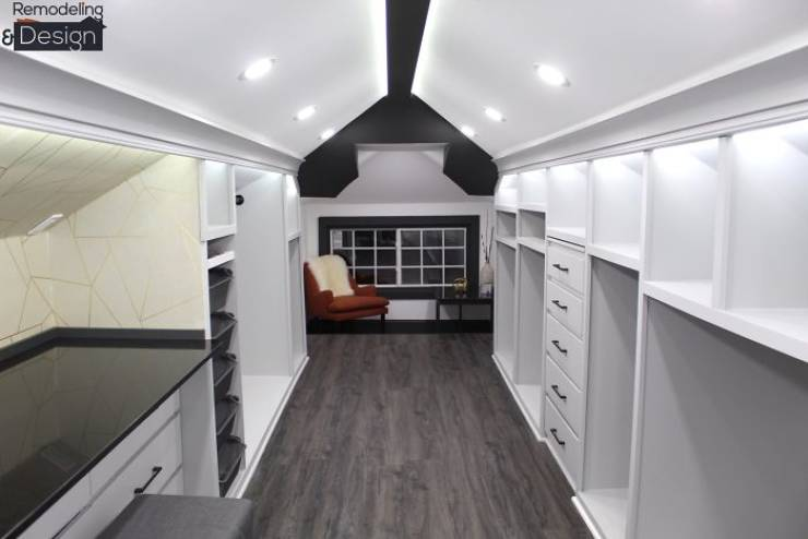 Husband Turns An Old Attic Into His Wife's New Cozy Cave