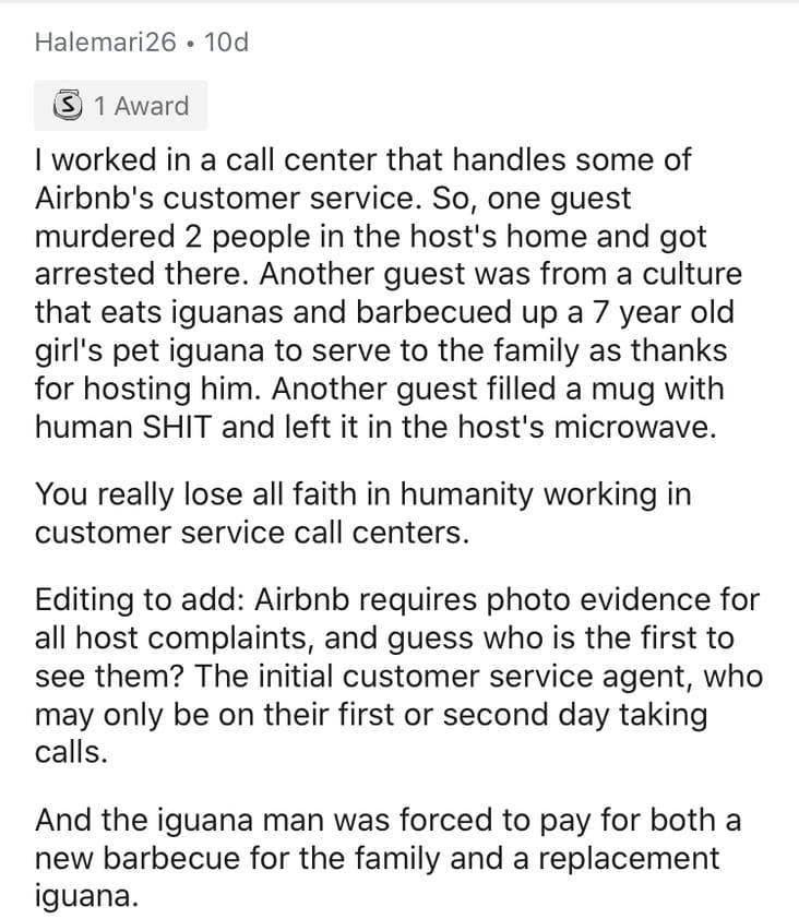 AirBnB Hosts Share Their Worst Guest Stories