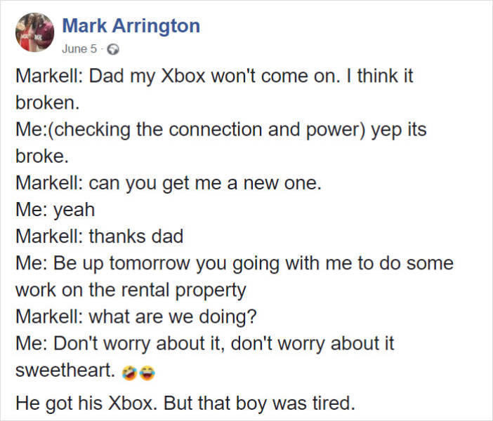 Son Asks Dad For A New Xbox, Dad Teaches Him A Life Lesson