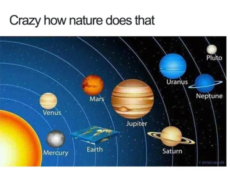 That's A Solid Argument Against The Flat Earth Theory…