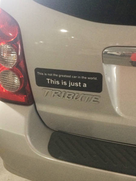 These Bumper Stickers Go Above And Beyond!