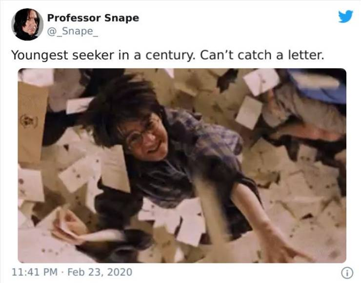 Snape Is The Professor Of Funny Tweets
