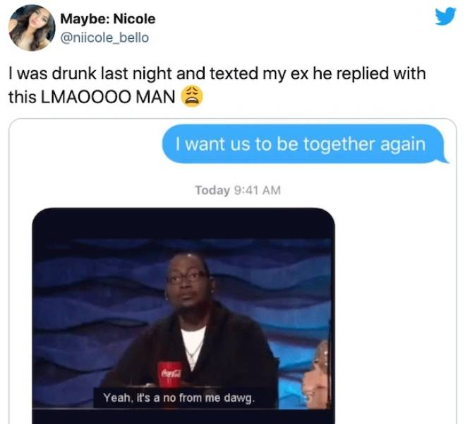 Texts From Exes Are A Danger Zone…