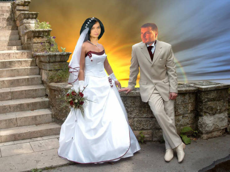 Russian Wedding Photoshops Are Out Of This World…