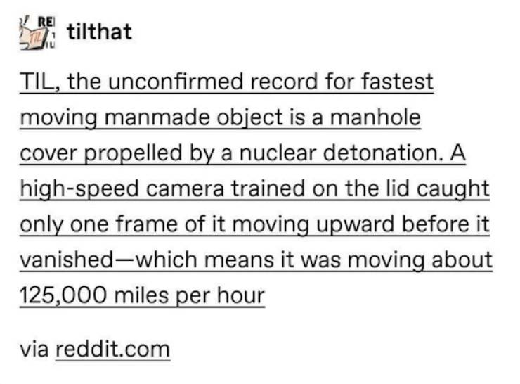 The Real Story About The Fastest Moving Manmade Object In Human History