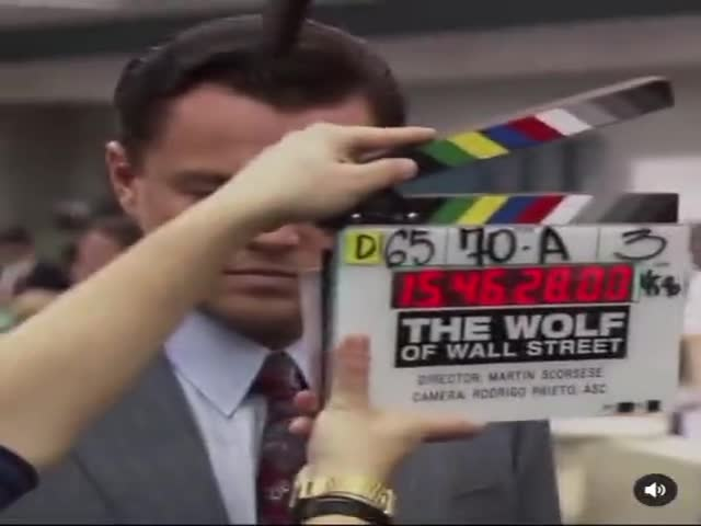 """Leo On The Set Of """"The Wolf Of Wall Street"""""""