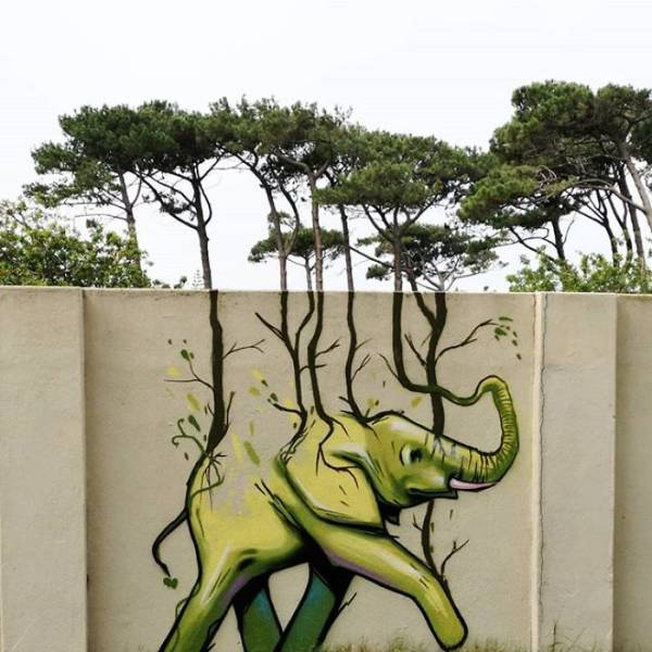 This Artist's Graffiti Is Made To Match The Surroundings!