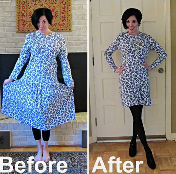 Woman Refashions Thrift-Store Clothes To Look Much More Stylish