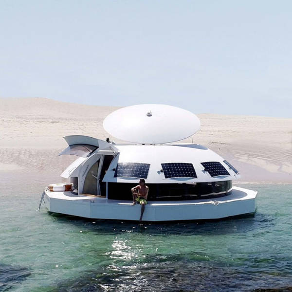 You Can Both Live And Sail Inside This Floating Pod!