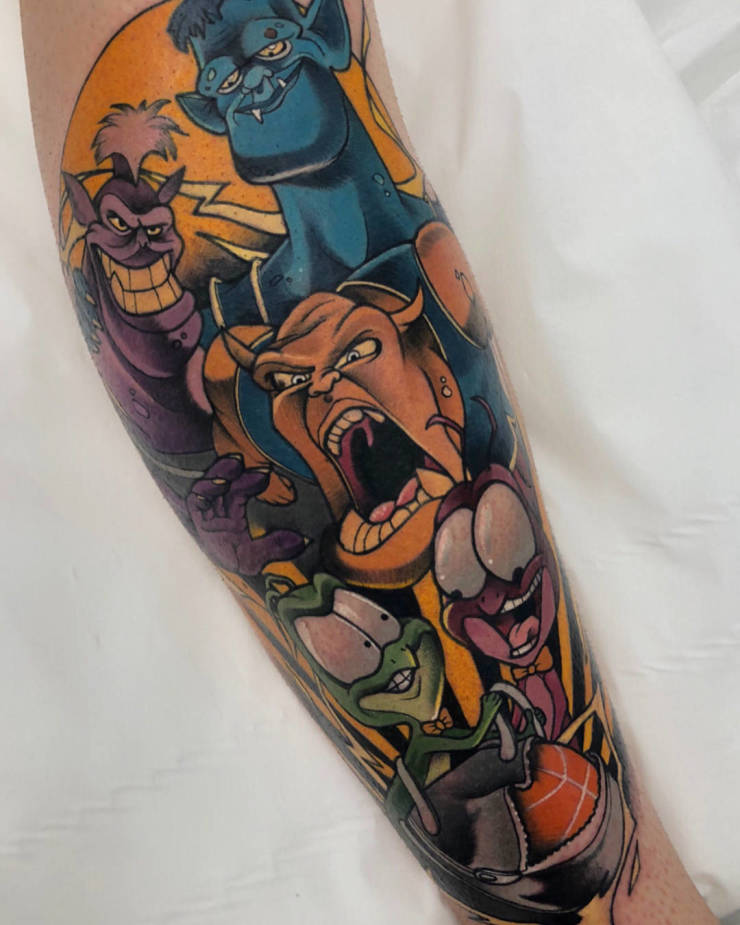 Tattoos For Those Who Like Cartoons Just A Bit Too Much