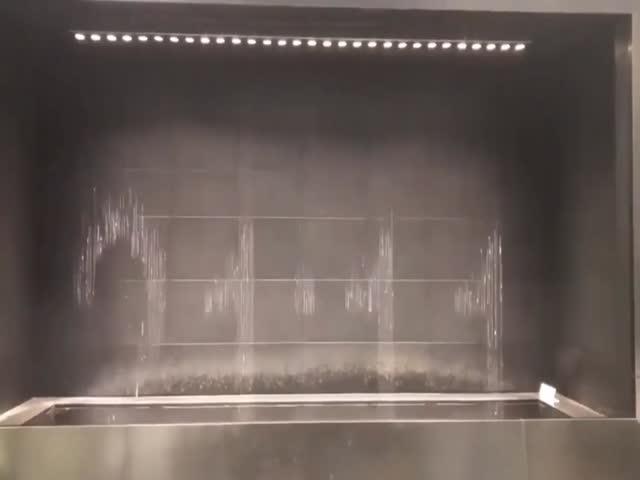 Japanese Water Clock At The Osaka Station