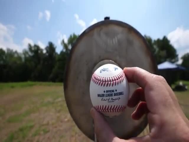 World's Fastest Baseball Launch