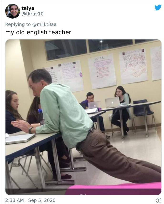 Some Teachers Have Very Weird Leaning Positions…