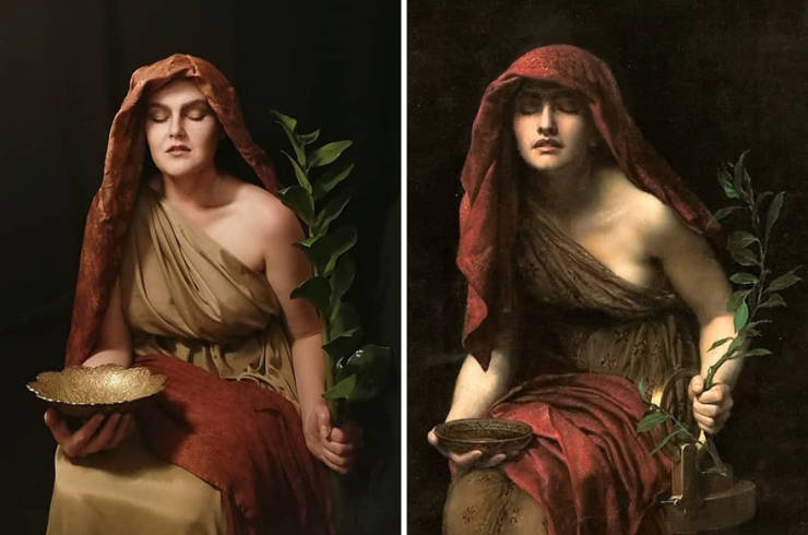 Woman Decided To Recreate A Classic Painting Every Day…