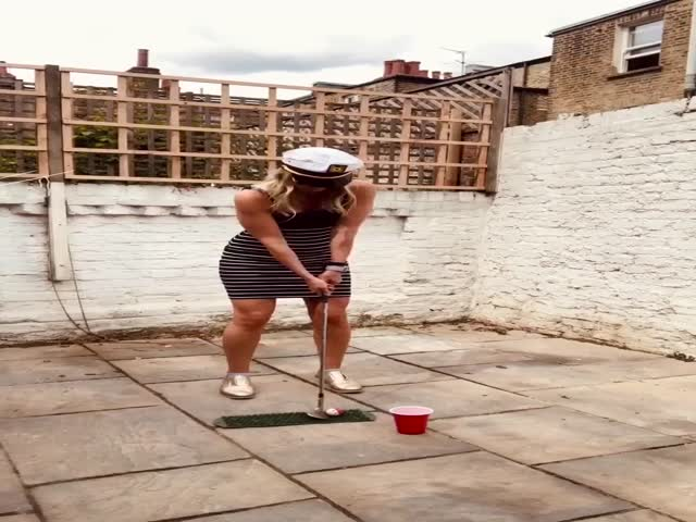 Emily Is A Golf Trick Shot Pro!