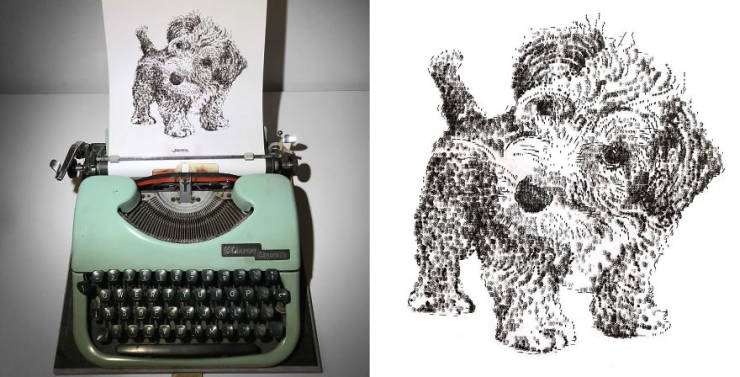 These Amazing Drawings Are Made With A Typewriter!