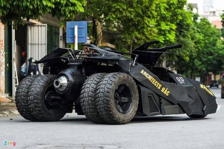 23-Year-Old Builds A Full-Blown Batmobile