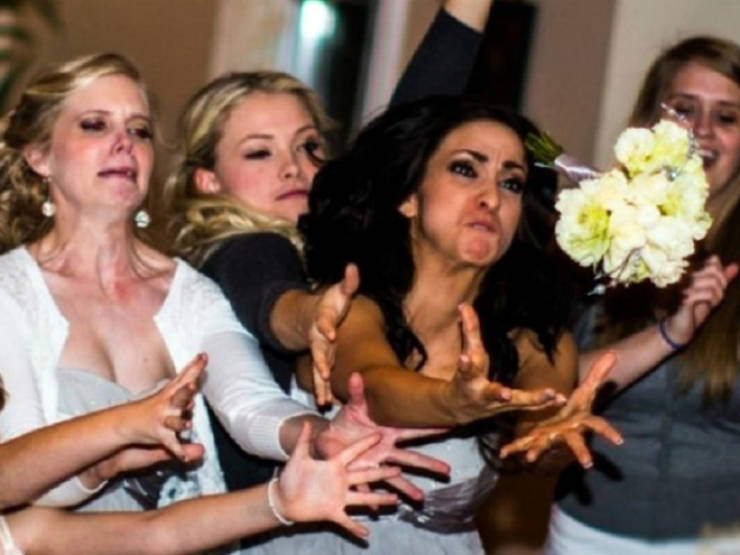 They REALLY Wanted That Bouquet!