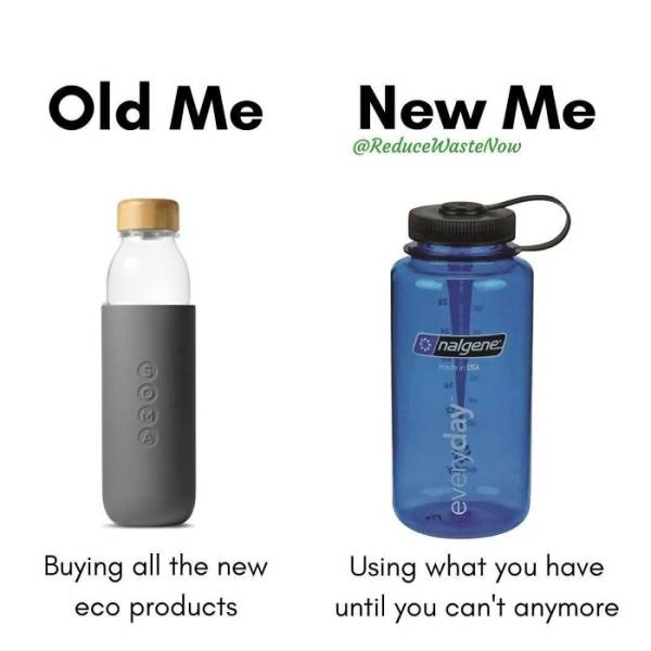 """""""Old Me"""" Vs """"New Me"""" Shows How You Can Reduce Waste In Everyday Life"""