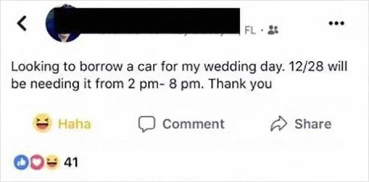 Guy Wants To Borrow A Car For His Wedding, Becomes A Choosing Beggar