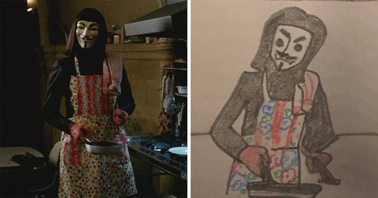Girl Creates Simple But Accurate Drawings Of Movie Scenes