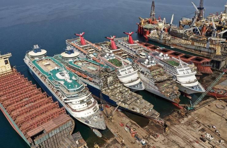 Cruise Ship Graveyard In Turkey