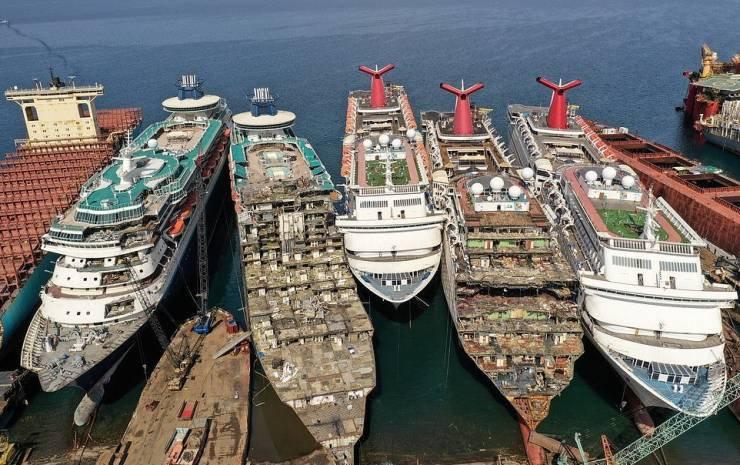 Cruise Ship Graveyard In Turkey