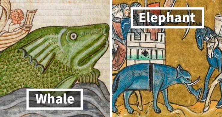 How Artists From The Past Tried To Draw Animals They've Never Seen