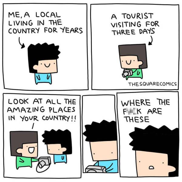 "A Dose Of Dark Humor By ""Square Comics"""