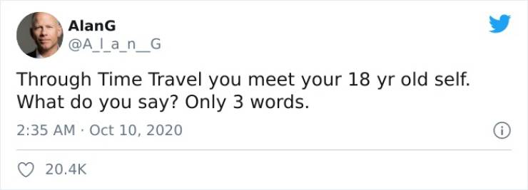 What Three Words Would You Have For Your 18-Year-Old Self?